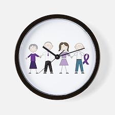 Alzheimers Stick Figures Wall Clock