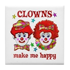 CLOWN Happy Tile Coaster