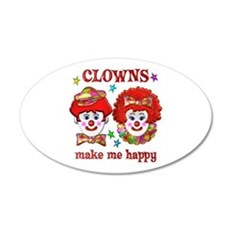 CLOWN Happy 35x21 Oval Wall Decal