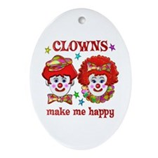 CLOWN Happy Ornament (Oval)