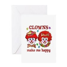 CLOWN Happy Greeting Card