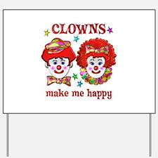 CLOWN Happy Yard Sign