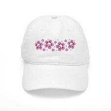 Skull Pink Blossoms Baseball Baseball Baseball Cap