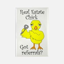 Real Estate Chick Referrals Rectangle Magnet