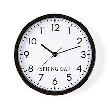 Spring Gap Newsroom Wall Clock