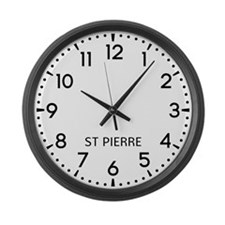 St Pierre Newsroom Large Wall Clock