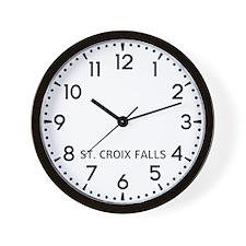 St. Croix Falls Newsroom Wall Clock