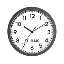 St. Elmo Newsroom Wall Clock