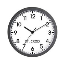 St. Croix Newsroom Wall Clock