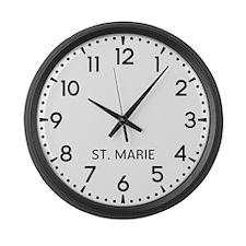 St. Marie Newsroom Large Wall Clock