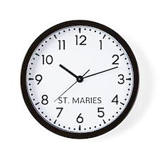 St. Maries Newsroom Wall Clock
