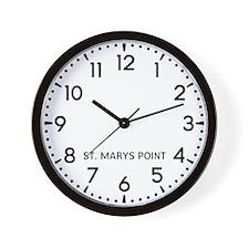 St. Marys Point Newsroom Wall Clock