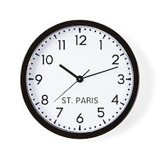 St. Paris Newsroom Wall Clock