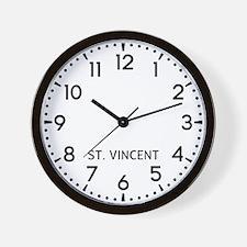 St. Vincent Newsroom Wall Clock