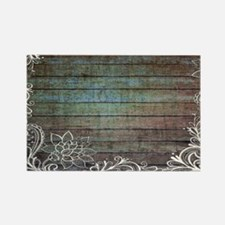 modern lace woodgrain country decor Magnets