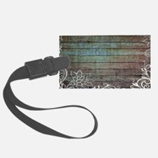 modern lace woodgrain country decor Luggage Tag