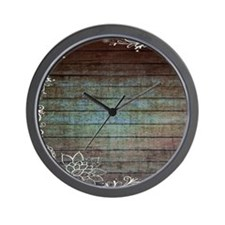 modern lace woodgrain country decor Wall Clock
