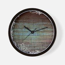 modern lace woodgrain country decor Wall Clock