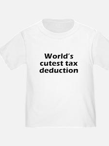 Worlds Cutest Tax Deduction T-Shirt