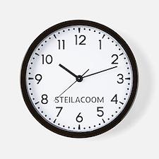 Steilacoom Newsroom Wall Clock