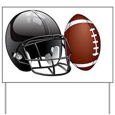 Football Helmet Yard Sign