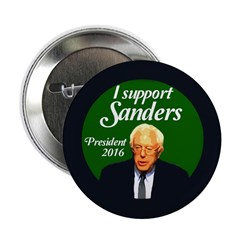 """I Support Sanders Political 2.25"""" Button"""