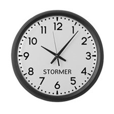 Stormer Newsroom Large Wall Clock