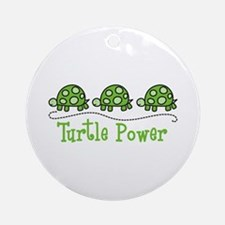 Turtle Power Ornament (Round)