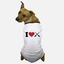 I love Fencing crossed epee Dog T-Shirt