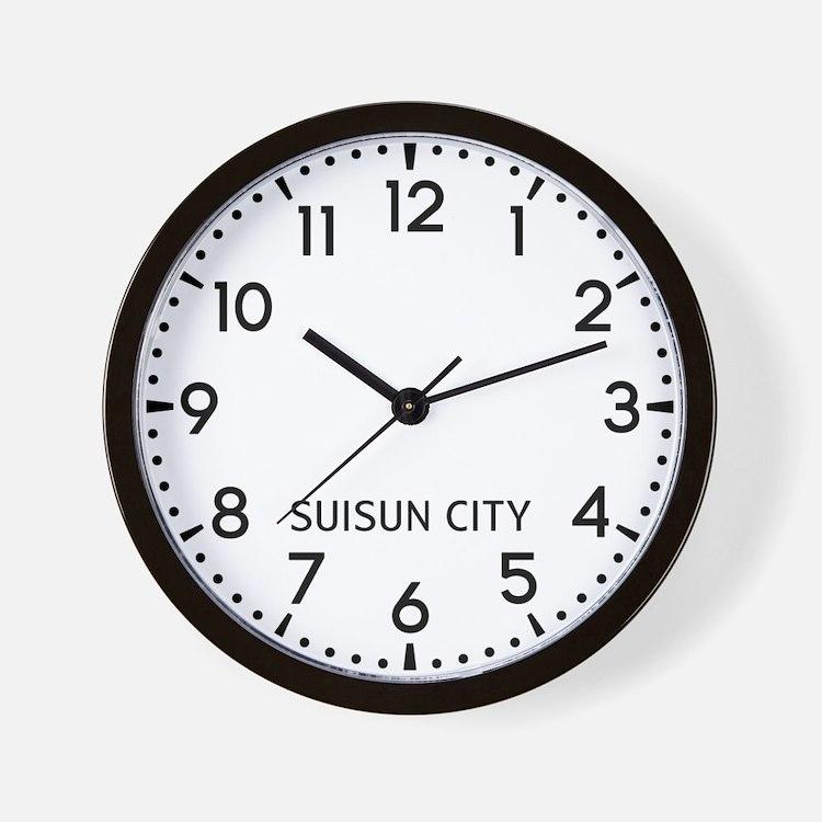 Suisun City Newsroom Wall Clock