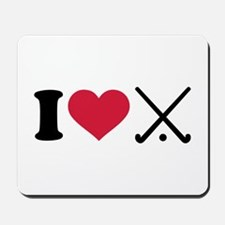 I love Field hockey clubs Mousepad