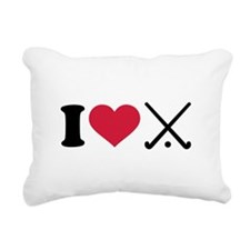I love Field hockey club Rectangular Canvas Pillow