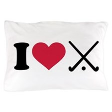 I love Field hockey clubs Pillow Case