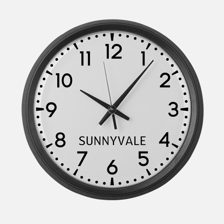 Sunnyvale Newsroom Large Wall Clock
