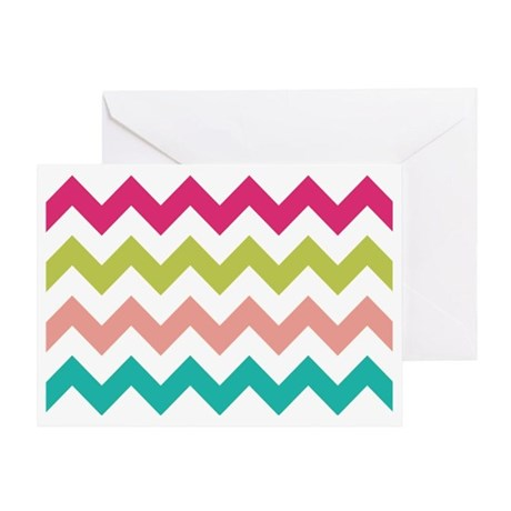 Pastel Chevron Greeting Card