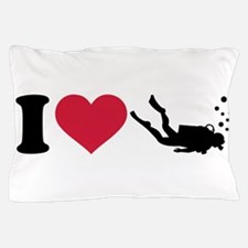 I love Scuba Diving Pillow Case