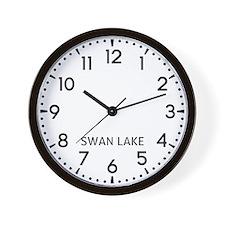 Swan Lake Newsroom Wall Clock