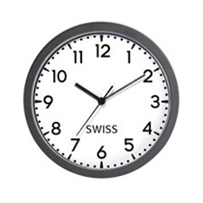 Swiss Newsroom Wall Clock