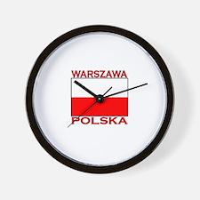 Warszawa, Polska Wall Clock
