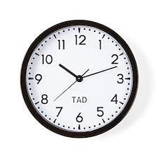 Tad Newsroom Wall Clock