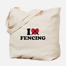 I love Fencing epee Tote Bag