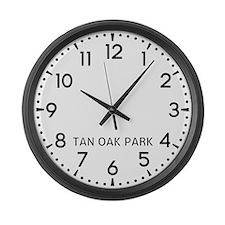 Tan Oak Park Newsroom Large Wall Clock