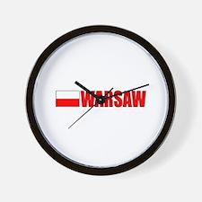 Warsaw, Poland Wall Clock