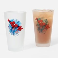 Spiderman Web Drinking Glass
