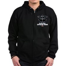Black Suit Spiderman Zip Hoodie