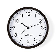 Tardy Newsroom Wall Clock