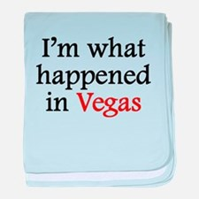 Im What Happened In Vegas baby blanket