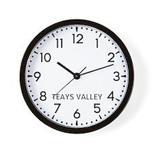 Teays Valley Newsroom Wall Clock