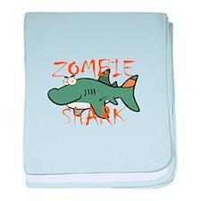 Zombie Shark baby blanket