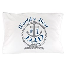 Worlds Best number 1 Dad in Anchor and Rope Pillow